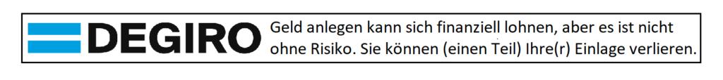 DEGIRO Risikohinweis