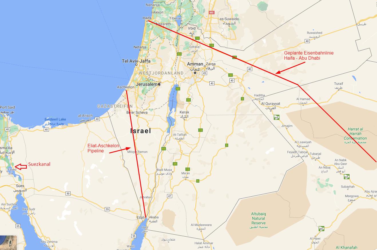 Suezkanal Alternativen