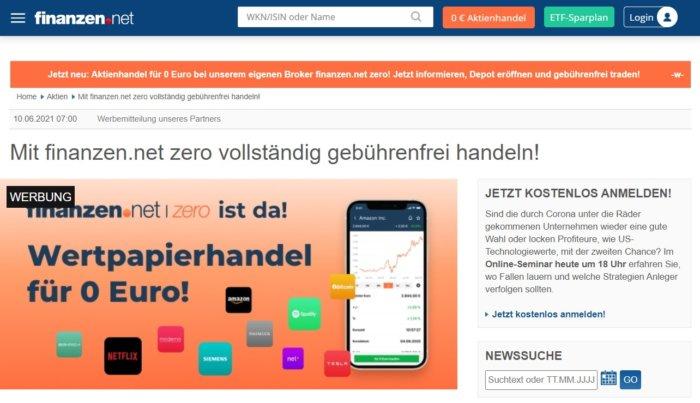 Aus Gratisbroker wird finanzen.net Zero