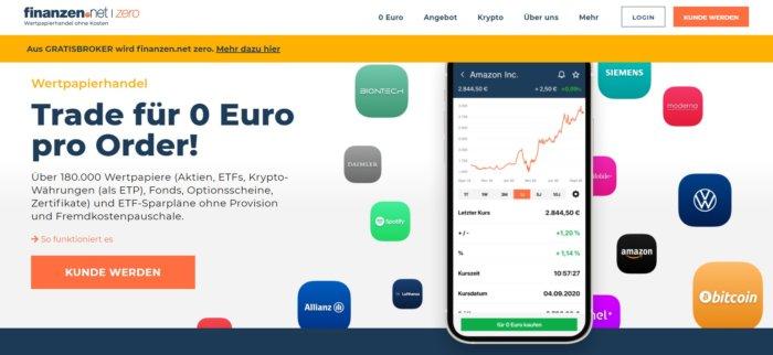 Gratisbroker in finanzen.net Zero umbenannt