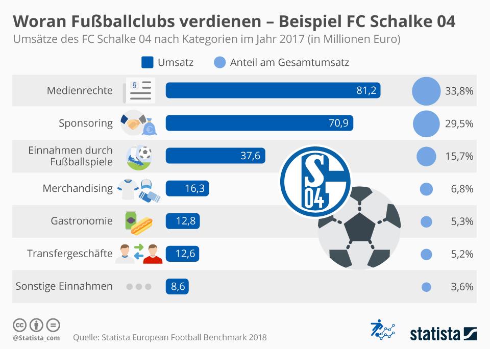 Woran Fußballclubs verdienen - Beispiel FC Schalke 04