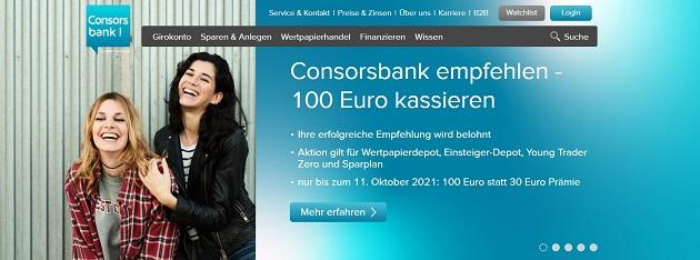 Consorsbank mit aktueller Freundschafts-Aktion